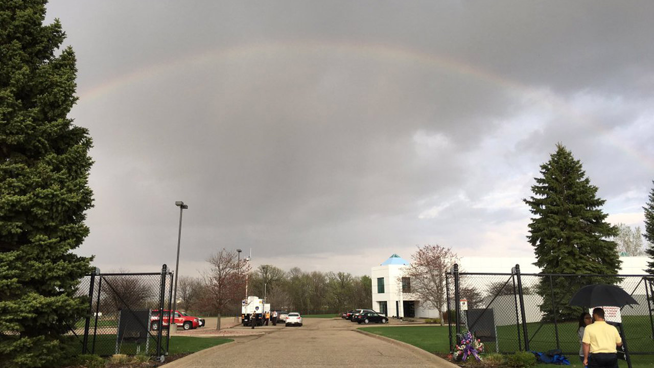 Rainbow appears over paisley park for Paisley house