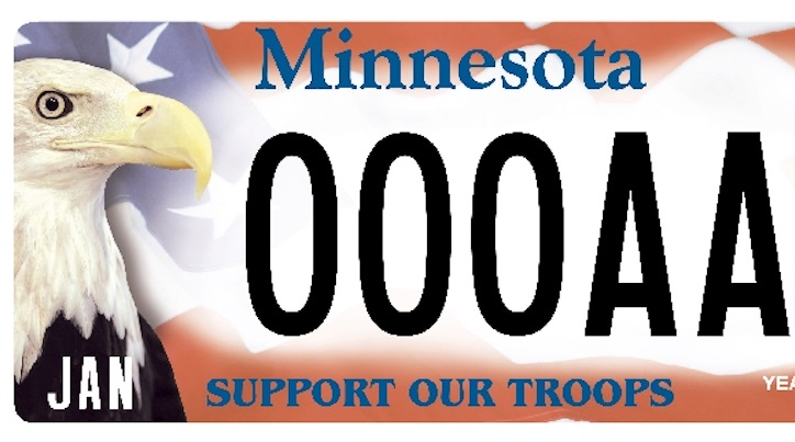 Harriet the eagle, who's on MN's 'Support Our Troops' license plate, dies