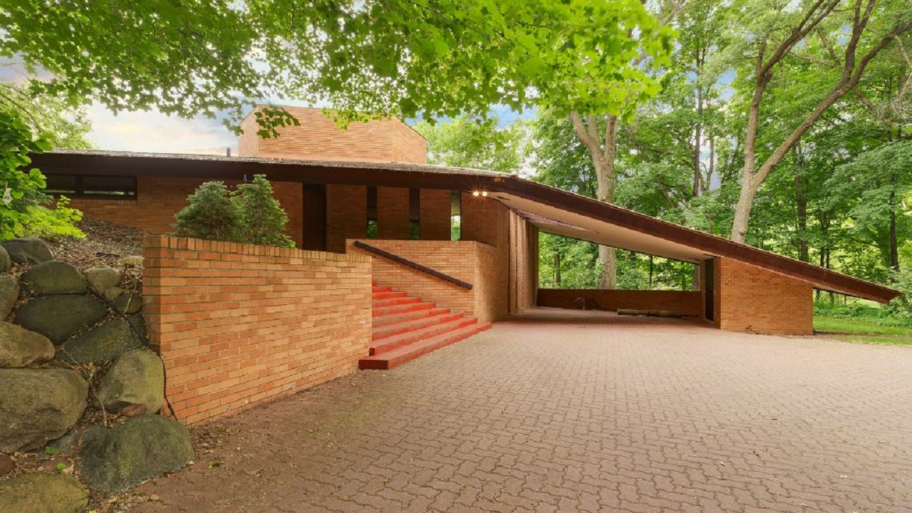 Frank lloyd wright house in st louis park for Frank lloyd wright house piani gratuiti