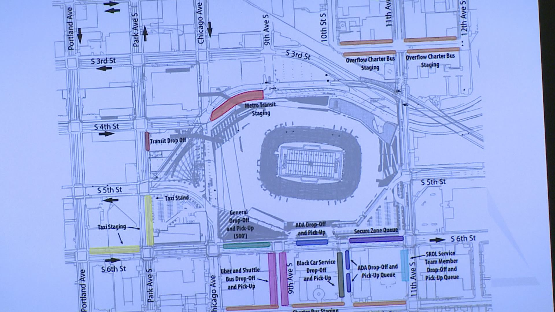 Exterior: What You Need To Know To Get To U.S. Bank Stadium
