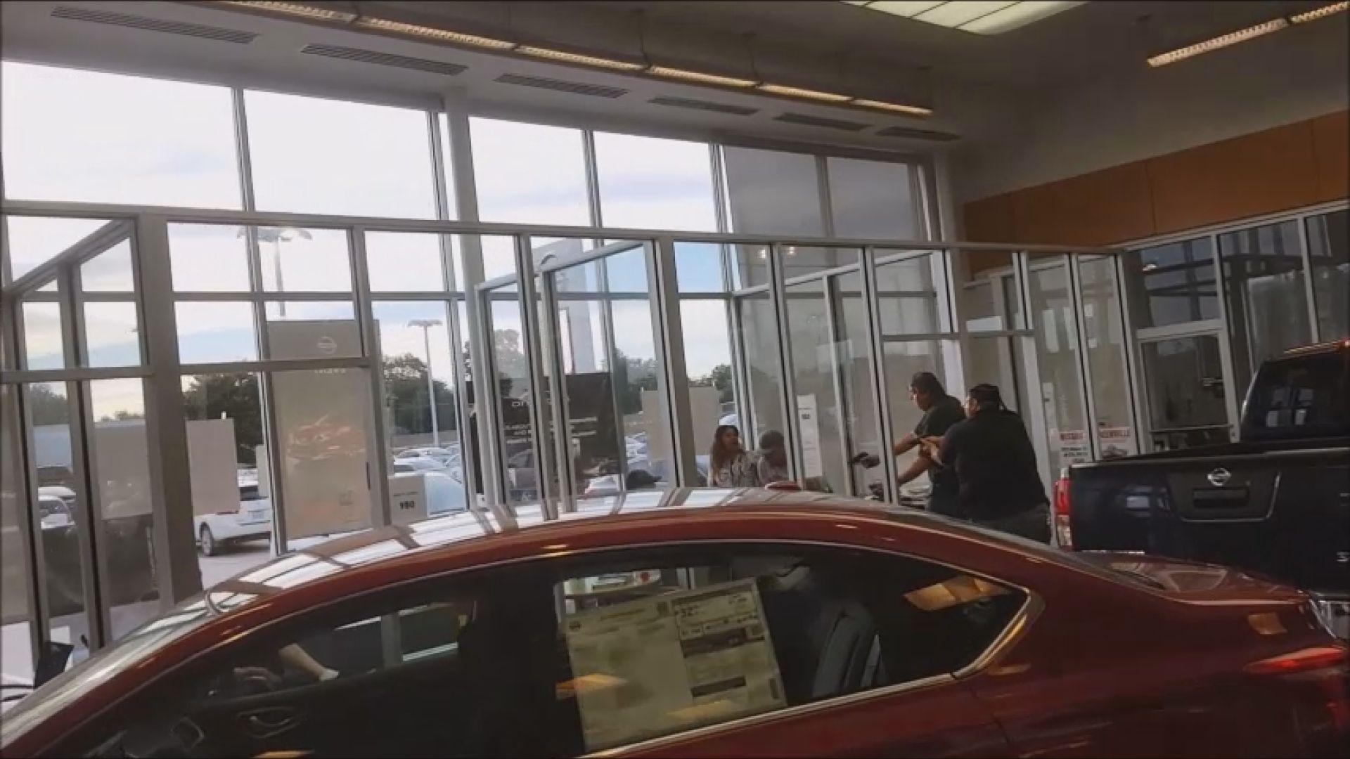 Dallas Car Dealership Shooting Video