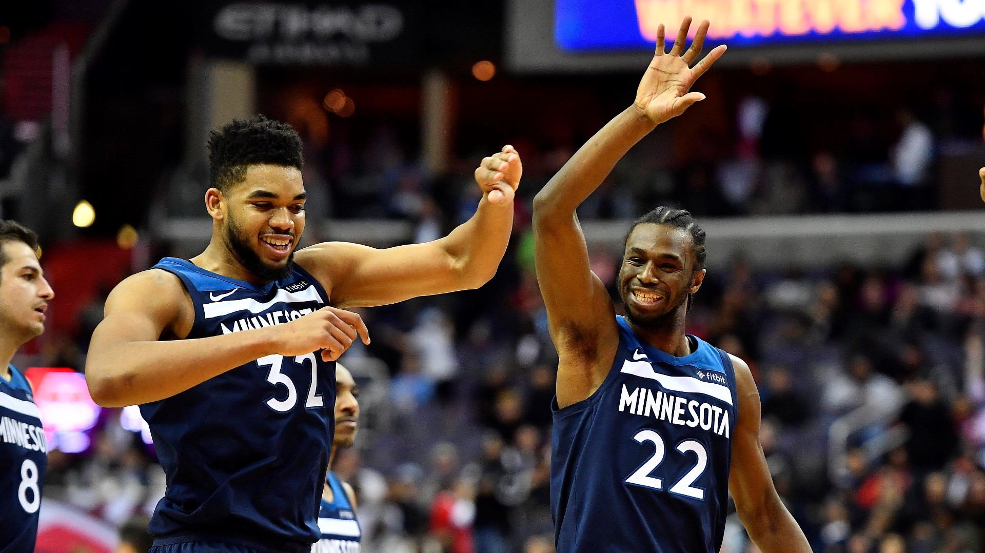 Kat Hit In Face Scores 37 To Lead Wolves Past Wiz 116 111 Kare11 Com
